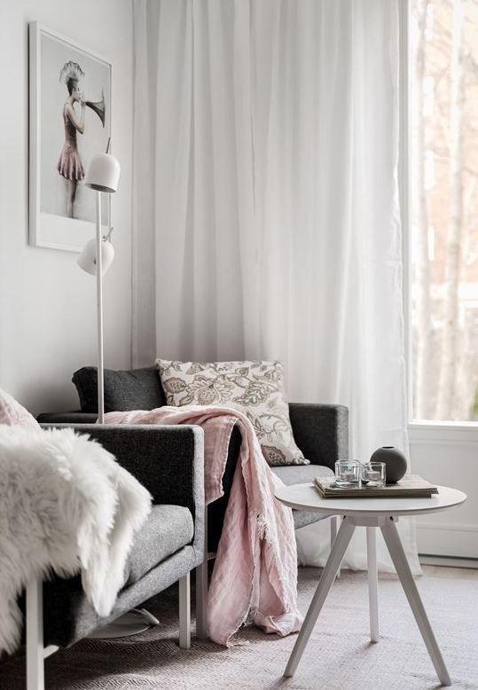 Déco gris rose : visite d\'un appart douillet | Deco gris ...