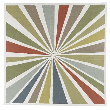 Love the colors in this Lourdes Sanchez rug from West Elm $399 for 8'x8'. Great to draw from for a whole house color scheme.