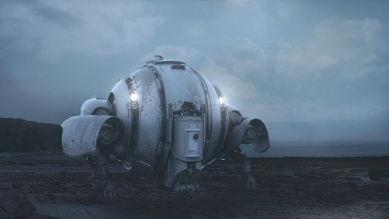 Spheric Drone by Fedor | Sci-Fi | 3D | CGSociety