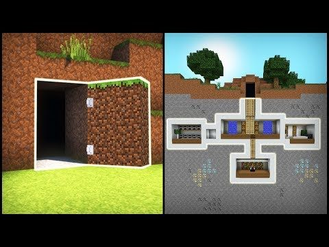 Minecraft How To Build A Secret Base Tutorial 2 Easy Hidden