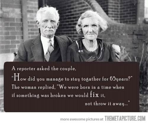 the problem with relationships today...