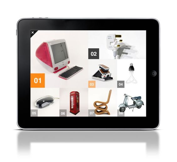 Design Museum Collection for iPad by Luke Cocker, via Behance