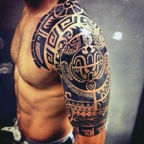 125 Best Half Sleeve Tattoos For Men Cool Shoulder Tattoos Tribal Arm Tattoos Tribal Tattoos For Men