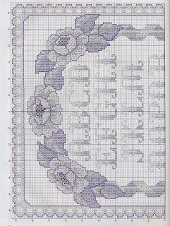 Gráficos de Ponto Cruz: ABC azul de ponto de cruz
