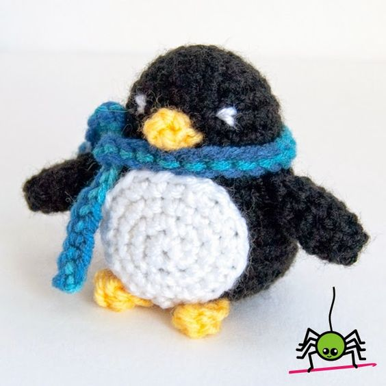 Crochet Amigurumi Spider : The Itsy Bitsy Spider Crochet: Little Penguin Amigurumi ...