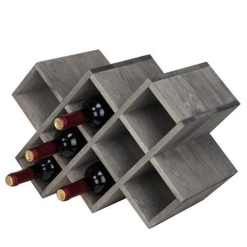 Gray Wood 8 Bottle Wine Rack In 2021 Countertop Wine Rack Wooden Wine Rack Wine Rack Wooden wine rack for sale