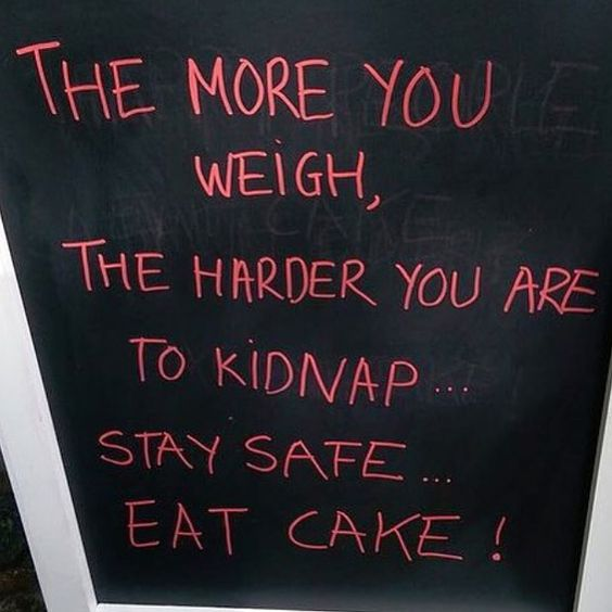 """New motto: """"stay safe eat cake"""""""