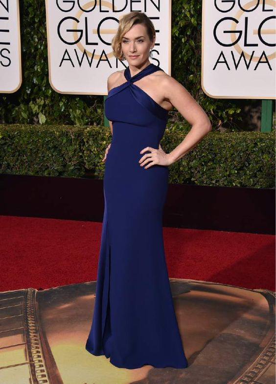 Kate Winslet arrives at the 73rd annual Golden Globe Awards on Sunday, Jan. 10, 2016, at the Beverly Hilton Hotel in Beverly Hills, Calif. (Photo by Jordan Strauss/Invision/AP):