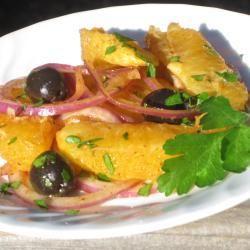 Insalata di arance, olive e cipolle