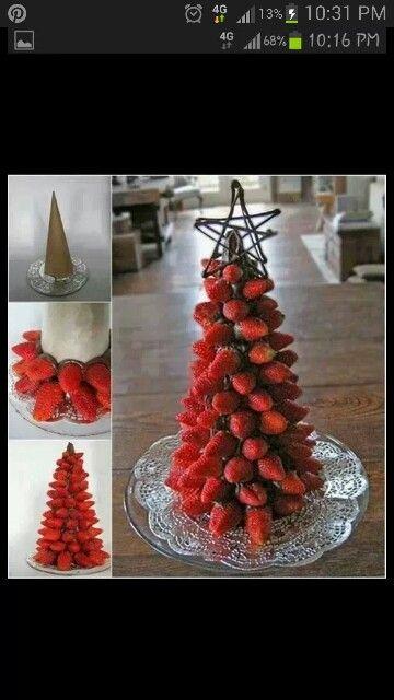 Chocolate Strawberry xmas tree!