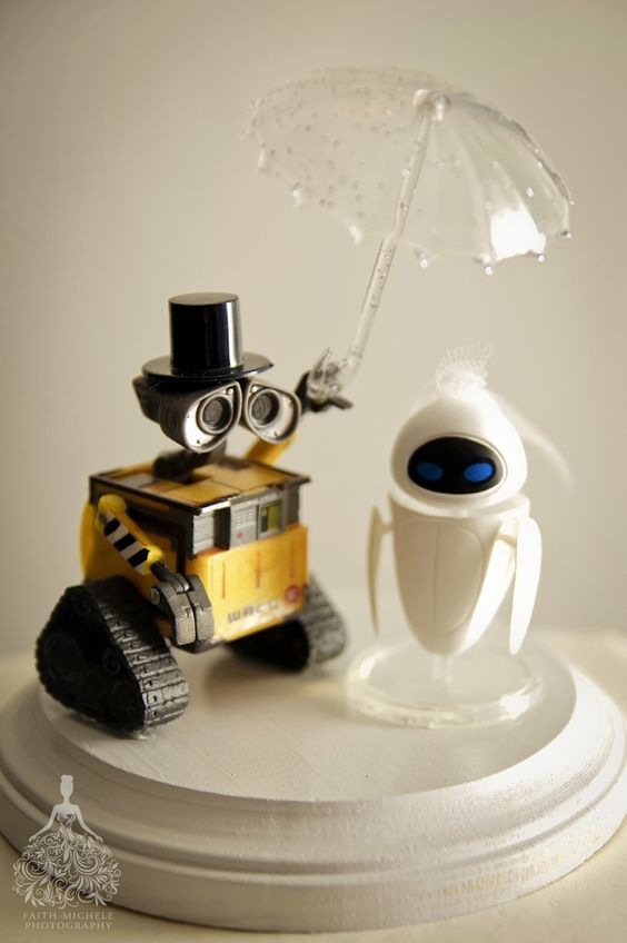 Con Otro Rollo Wedding Planner Cake Topper Wall-e: