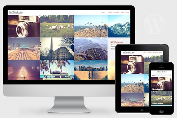 Lens - Responsive Photography Theme by Pro Theme Design on @creativemarket