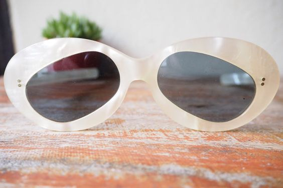 Vintage Sunglasses Rare Panda Shaped Lens by hisandhervintage