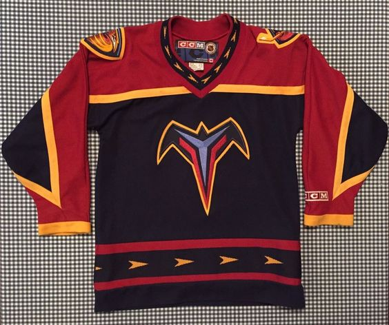 Atlanta Thrashers Alternate CCM Authentic Replica Youth Jersey Size L/XL NHL…