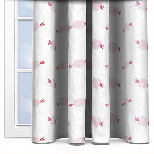Clarke & Clarke Sweeties Pink Curtain #igdtrends #softpop #trend #interior #curtains #style