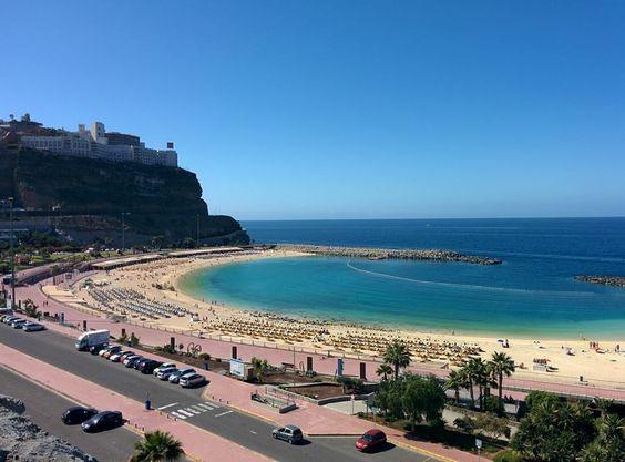 The Beautiful Amadores Beach In Puerto Rico Gran Canaria Puerto