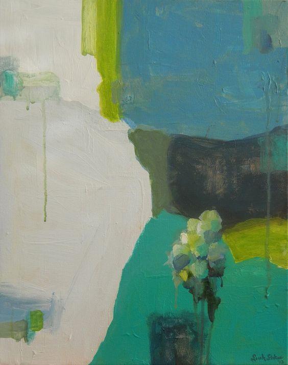 "Saatchi Online Artist: Sarah Stokes; Acrylic Painting ""Blue Ice"""