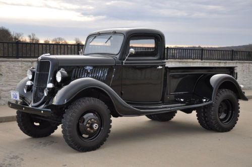1935 Ford 4x4 1-Ton Pickup Truck. Love this truck; my first purchase after winning the lottery.