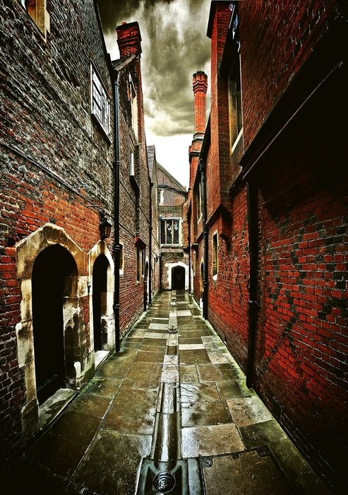 freemug:    An alleyway in Hampton Court, home of King Henry VIII. You might recognise it from the TV programme 'The Tudors' which is filmed here.