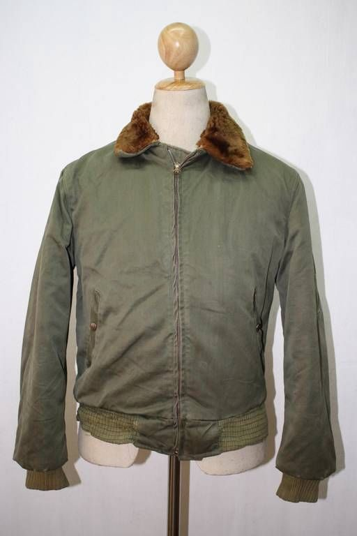 Vintage WWII B-15 US Army Air Force USAAF Flight Jacket Small ...