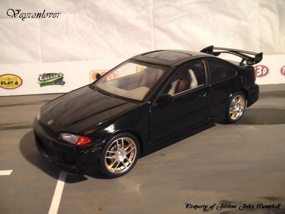 fast and furious honda civic coupe nera