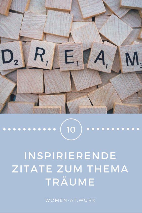 10 inspirierende Zitate zum Thema Träume