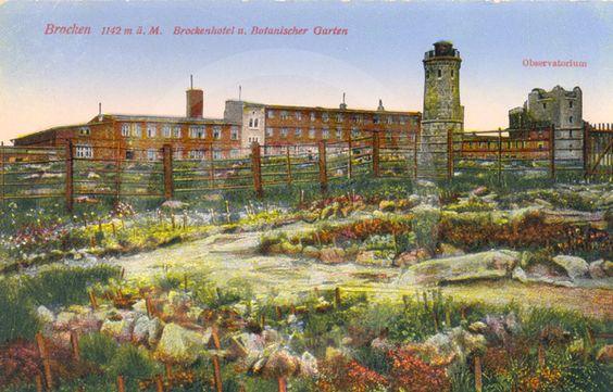 Historische Postkarte - Brockenspitze.
