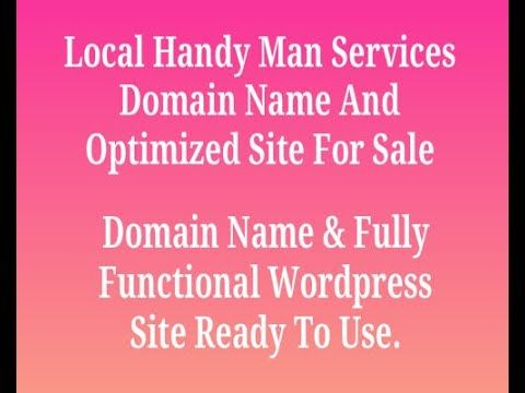 Local Handyman Services Optimized Website For Sale Handyman Services Handyman Handyman Business