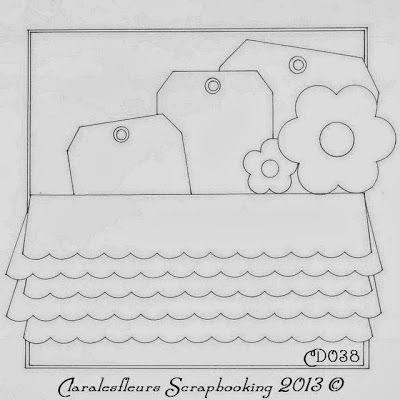 Claralesfleurs - Sketch de carte CD038