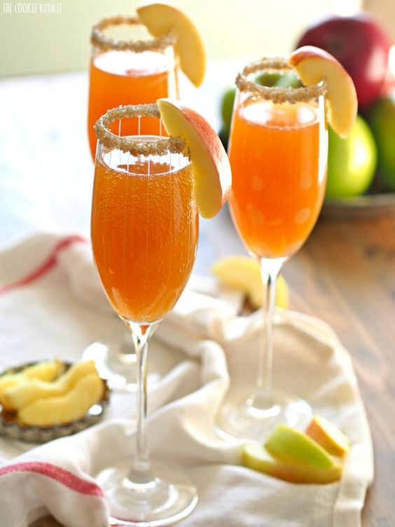 apple cider mimosas recipe pinterest easy recipes