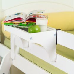 Top bunk bedside tray