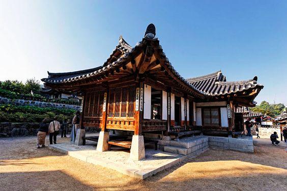 Kiểu nhà truyền thống Hanok ở Hàn Quốc