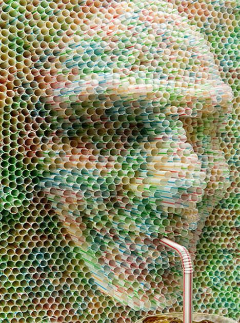 Awesome drinking straw art