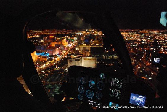 Voler au dessus de Las Vegas et de son strip de nuit. Un moment inoubliable - 4 coins du monde