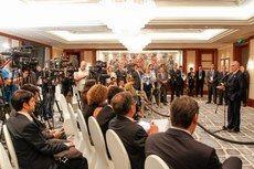 Presidente Michel Temer durante coletiva de imprensa, na cidade de Hangzhou (China)