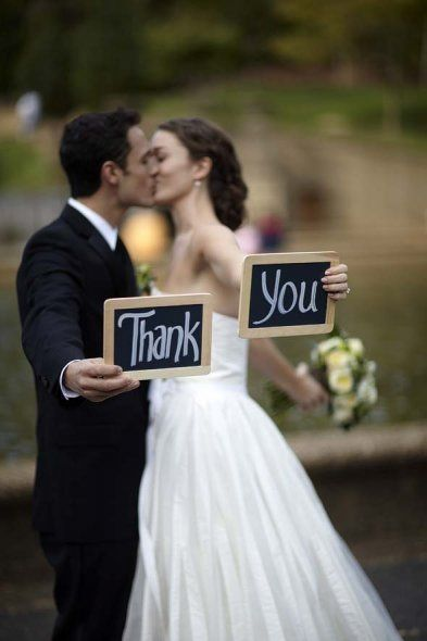 Good idea for wedding thank you cards..
