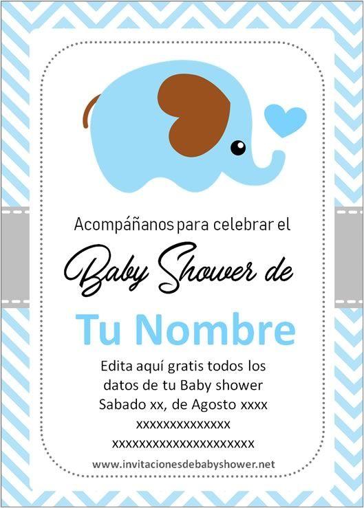 Las Mejores Invitaciones De Baby Shower De Niño Para Editar Baby Shower Invitaciones Plantillas De Invitación Para Baby Shower Invitaciones Para Baby Shawer