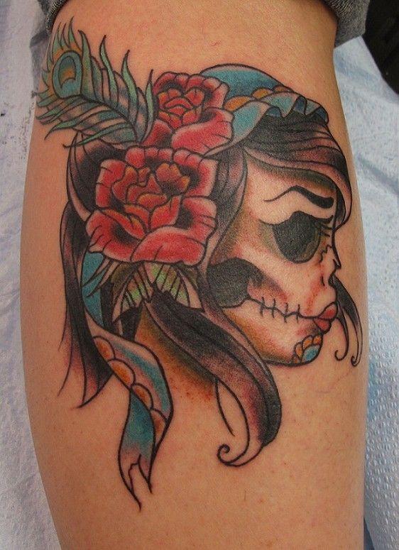 Sugar Skull Tattoos  #dawnofthedead--pretty!