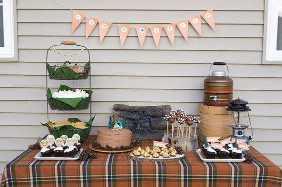Camping_Themed_Birthday_Party_2_Dessert_Table