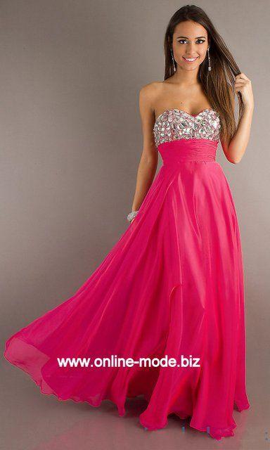Corsage Abendkleid in Pink von www.online-mode.biz
