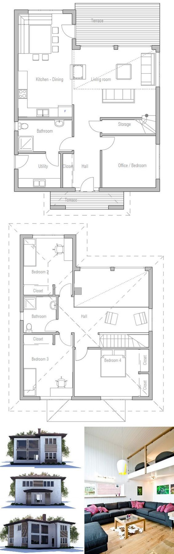 High ceilings window and house on pinterest - House plans high ceilings ...