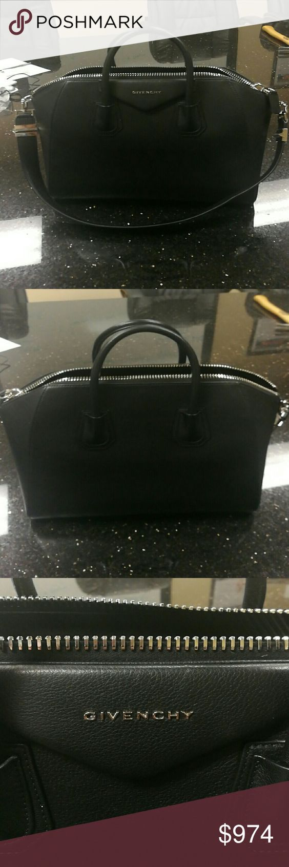 Givenchy Antigona black leather bag Like new. Some minor scuffs as seen in pictures. Bags