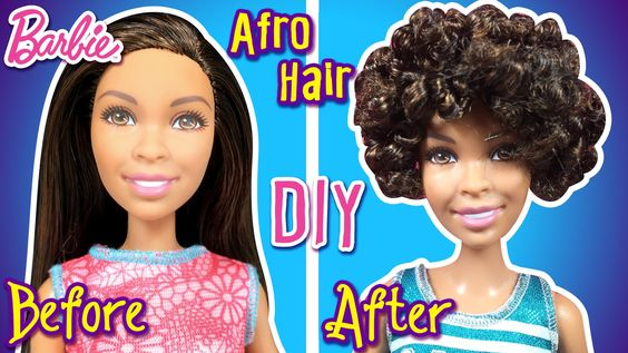 How To Make Afro Hair For Barbie Doll DIY Doll Hairstyle - Doll hairstyles barbie