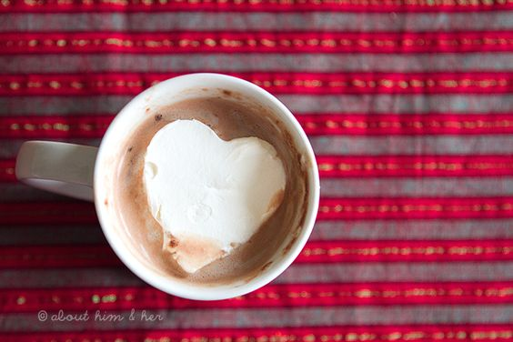 Cut heart shapes out of frozen cool-whip to top your hot chonklit! YEAH. (via @Alison Headley