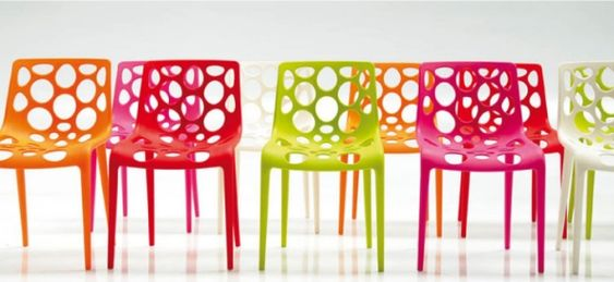 Stuhldesign Calligaris Bunte Stühle