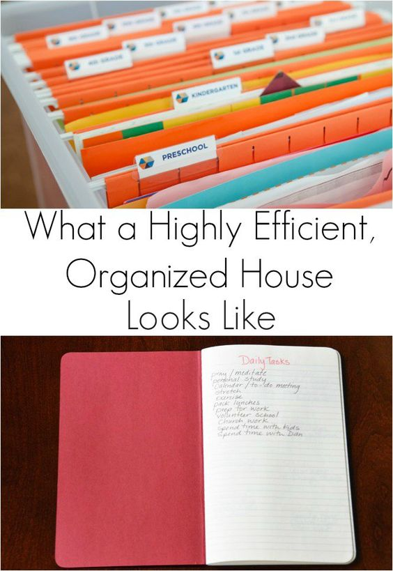What A Highly Efficient Organized House Looks Like House