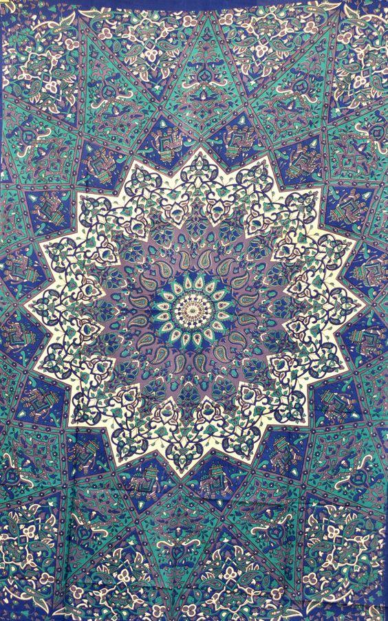 Hppie hippy de tenture murale tapisserie de chakra de for Tapisserie murale de luxe