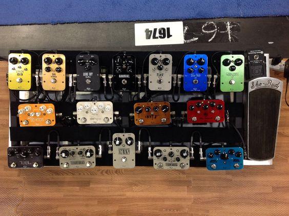 The Rockett pedal board.
