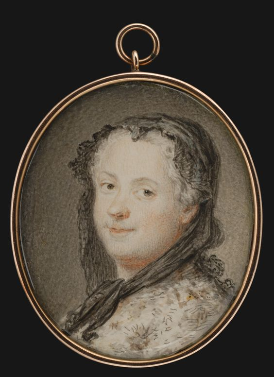 Marie Leszczinska, reine de France, c. 1765 after 1748 pastel by Maurice-Quentin de La Tour