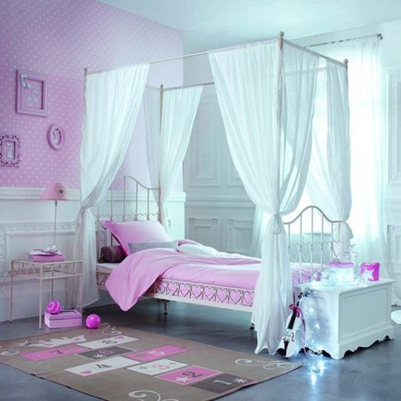 Bedroom Pretty And Cozy Girls Bedroom Ideas White And